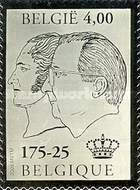 [Silver Stamp - Profile of Albert II and Leopold I, Typ CZT]