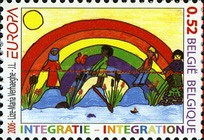 [EUROPA Stamps - Integration Through the Eyes of Young People, Typ DEZ]