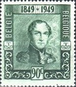 [The 100th Anniversary of the First Belgian Stamp, Typ OQ]