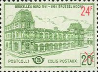 [Old North Station in Brussels - Overprinted, Typ YZC1]
