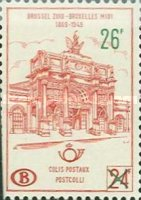 [South Station in Brussels - Overprinted, Typ YZE]