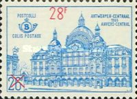 [Central Station in Antwerp - Overprinted, Typ YZG]
