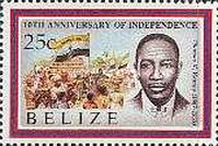 [The 10th Anniversary of Independence - Famous Belizeans, type VV]