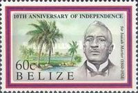 [The 10th Anniversary of Independence - Famous Belizeans, type VW]
