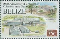 [The 500th Anniversary of Discovery of America by Columbus - Mayan Sites and Modern Buildings, type WR]