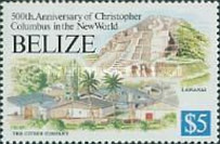 [The 500th Anniversary of Discovery of America by Columbus - Mayan Sites and Modern Buildings, type WS]