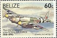 [The 75th Anniversary of Royal Air Force, type WZ]