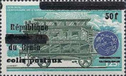 [Airmail - Dahomey Postage Stamp of 1972 & 1974 Overprinted and Surcharged, Typ L]
