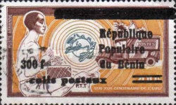 [Airmail - Dahomey Postage Stamp of 1972 & 1974 Overprinted and Surcharged, Typ M]