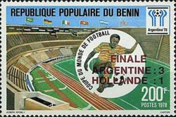 [Argentina's Victory in the Football World Cup - Argentina - Stamps of 1978 Overprinted, type CK2]