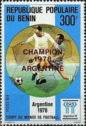 [Argentina's Victory in the Football World Cup - Argentina - Stamps of 1978 Overprinted, type CL2]