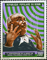 [The 1st Anniversary of the Death of Raoul Follereau (Leprosy Pioneer), 1903-1977, Typ DI]