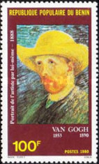 [The 90th Anniversary of the Death of Van Gogh (Artist), 1853-1890, Typ GK]