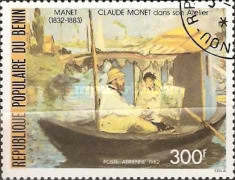[Airmail - The 150th Anniversary of the Birth of Edouard Manet (Artist), 1832-1883, Typ ID]