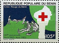 [The 20th Anniversary of Benin Red Cross, Typ IL]