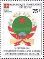 [Airmail - Postal Convention between Benin and Sovereign Military Order of Malta, Typ JL]