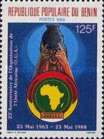[The 25th Anniversary of Organization of African Unity, Typ LT]