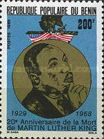[The 20th Anniversary of the Death of Martin Luther King (Civil Rights Leader), 1929-1968, Typ LU]