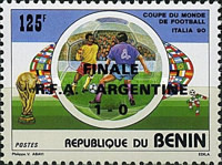 [World Cup Finalists - Issue of 1990 Overprinted
