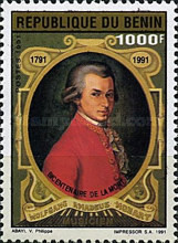 [The 200th Anniversary of the Death of Wolfgang Amadeus Mozart (Composer), 1756-1791, type NE]