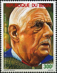 [The 100th Anniversary of the Birth (1990) of Charles de Gaulle (French Statesman), 1890-1970, type NS]