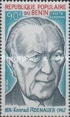 [Airmail - The 100th Anniversary of the Birth of Konrad Adenauer (German Statesman), 1876-1967, type O]