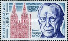 [Airmail - The 100th Anniversary of the Birth of Konrad Adenauer (German Statesman), 1876-1967, type P]