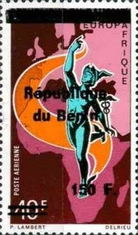 [Airmail - Various Dahomey Stamps Overprinted, Typ XRO17]