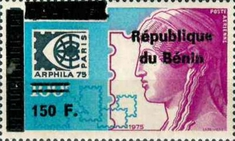 [Airmail - Various Dahomey Stamps Overprinted, Typ XRO29]