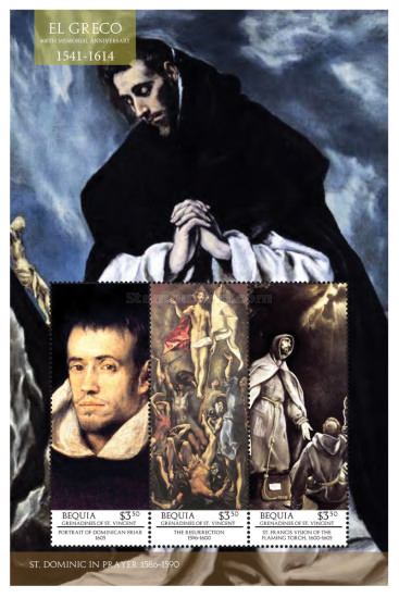 [Paintings - The 400th Anniversary of the Death of El Greco, 1541-1614, Typ ]