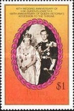 [Royal Wedding Anniversary; The 150th Anniversary of the Queen Victoria's Accession to the Throne, Typ HZ]