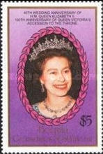 [Royal Wedding Anniversary; The 150th Anniversary of the Queen Victoria's Accession to the Throne, Typ IB]