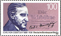 [The 100th Anniversary of the Birth of Carl von Ossietzky - Journalist, Typ ABE]