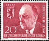 [In Memorial of Walther Schreiber(1884-1958) - Mayor of Berlin 1953-1954, Typ DF]
