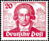 [The 200th Anniversary of the Birth of Johann Wolfgang von Goethe - Poet, type R]