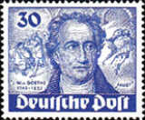[The 200th Anniversary of the Birth of Johann Wolfgang von Goethe - Poet, type S]