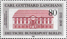 [The 250th Anniversary of the Birth of Carl G. Langhans, Typ UU]