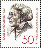 [The 100th Anniversary of the Birth of Louise Schroeder - Politician, Typ YL]