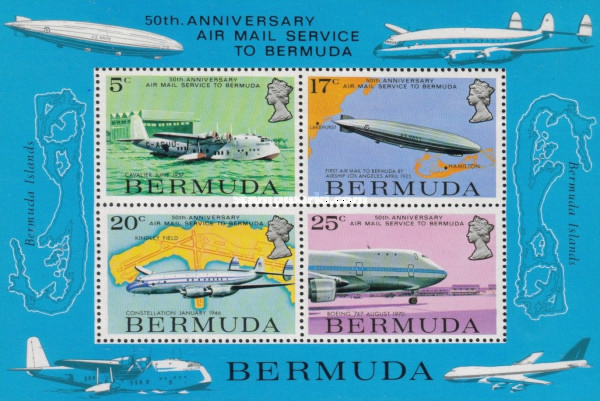[The 50th Anniversary of Airmail Service to Bermuda, type ]