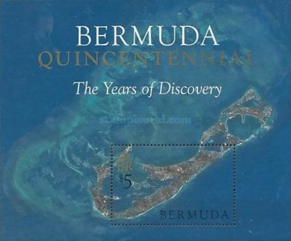 [The 500th Anniversary of Discovery of Bermuda by Juan de Bermudez (Spanish Navigator), Typ ]