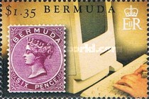 [The 150th Anniversary of Bermuda's Queen Victoria Postage Stamps, Typ AKZ]