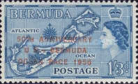 [The 50th Anniversary of United States-Bermuda Yacht Race - Issue of 1953 Overprinted