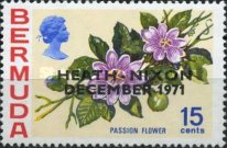 [Anglo-American Talks - Flower Issue Stamps of 1970 Overprinted