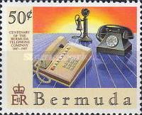 [The 100th Anniversary of Bermuda Telephone Company, Typ OJ]
