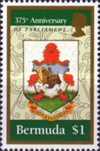 [The 375th Anniversary of Bermuda Parliament, Typ US1]
