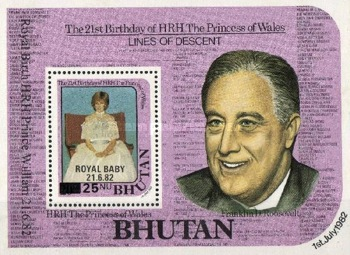 [Birth of Prince William of Wales - Issues of 1982 Overprinted