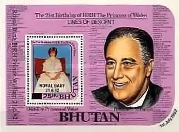 [The 21st Anniversary of the Birth of Diana - Overprinted