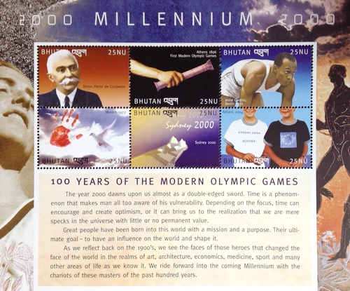 [New Millennium - The 100th Anniversary of Modern Olympic Games, Typ ]