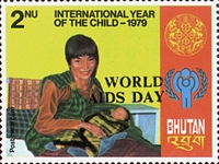 [World Aids Day - Issues of 1979 Overprinted