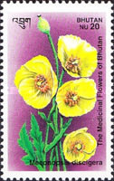 [Medicinal Flowers - Designs showing varieties of the Asiatic Poppy, Typ BDZ]